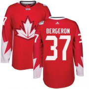 Wholesale Cheap Team Canada #37 Patrice Bergeron Red 2016 World Cup Stitched Youth NHL Jersey