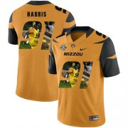 Wholesale Cheap Missouri Tigers 91 Charles Harris Gold Nike Fashion College Football Jersey