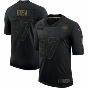 Cheap San Francisco 49ers #97 Nick Bosa Nike 2020 Salute To Service Limited Jersey Black