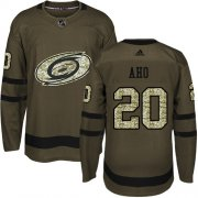 Wholesale Cheap Adidas Hurricanes #20 Sebastian Aho Green Salute to Service Stitched Youth NHL Jersey