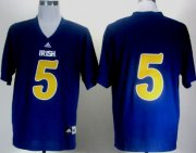 Wholesale Cheap Notre Dame Fighting Irish #5 Everett Golson 2012 Shamrock Series Navy Blue Jersey