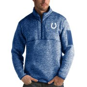 Wholesale Cheap Indianapolis Colts Antigua Fortune Quarter-Zip Pullover Jacket Heather Royal