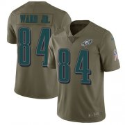 Wholesale Cheap Nike Eagles #84 Greg Ward Jr. Olive Men's Stitched NFL Limited 2017 Salute To Service Jersey