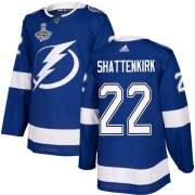 Cheap Adidas Lightning #22 Kevin Shattenkirk Blue Home Authentic 2020 Stanley Cup Champions Stitched NHL Jersey