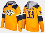 Wholesale Cheap Predators #33 Viktor Arvidsson Yellow Name And Number Hoodie
