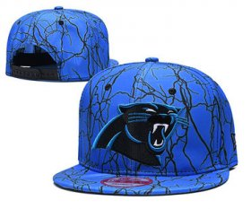 Wholesale Cheap Panthers Team Logo Blue Adjustable Hat TX