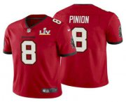 Wholesale Cheap Men's Tampa Bay Buccaneers #8 Bradley Pinion Red 2021 Super Bowl LV Limited Stitched NFL Jersey