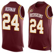 Wholesale Cheap Nike Redskins #24 Josh Norman Burgundy Red Team Color Men's Stitched NFL Limited Tank Top Jersey
