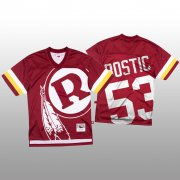Wholesale Cheap NFL Washington Redskins #53 Jon Bostic Red Men's Mitchell & Nell Big Face Fashion Limited NFL Jersey