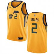 Wholesale Cheap Nike Utah Jazz #2 Joe Ingles Yellow NBA Swingman Statement Edition Jersey