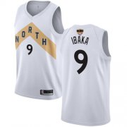 Wholesale Cheap Raptors #9 Serge Ibaka White 2019 Finals Bound Basketball Swingman City Edition 2018-19 Jersey