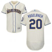 Wholesale Cheap Mariners #20 Dan Vogelbach Cream Flexbase Authentic Collection Stitched MLB Jersey