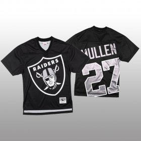 Wholesale Cheap NFL Las Vegas Raiders #27 Trayvon Mullen Black Men\'s Mitchell & Nell Big Face Fashion Limited NFL Jersey