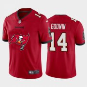 Wholesale Cheap Tampa Bay Buccaneers #14 Chris Godwin Red Men's Nike Big Team Logo Vapor Limited NFL Jersey