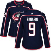 Wholesale Cheap Adidas Blue Jackets #9 Artemi Panarin Navy Blue Home Authentic Women's Stitched NHL Jersey