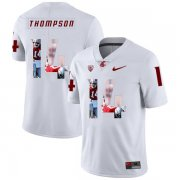 Wholesale Cheap Washington State Cougars 14 Jack Thompson White Fashion College Football Jersey
