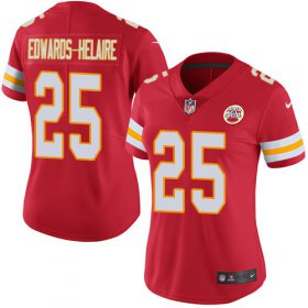 Wholesale Cheap Nike Chiefs #25 Clyde Edwards-Helaire Red Team Color Women\'s Stitched NFL Vapor Untouchable Limited Jersey
