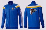 Wholesale Cheap NFL Atlanta Falcons Team Logo Jacket Blue