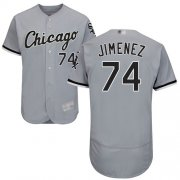 Wholesale Cheap White Sox #74 Eloy Jimenez Grey Flexbase Authentic Collection Stitched MLB Jerseys
