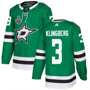Cheap Adidas Stars #3 John Klingberg Green Home Authentic Youth 2020 Stanley Cup Final Stitched NHL Jersey