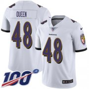 Wholesale Cheap Nike Ravens #48 Patrick Queen White Youth Stitched NFL 100th Season Vapor Untouchable Limited Jersey