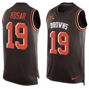 Wholesale Cheap Nike Browns #19 Bernie Kosar Brown Team Color Men's Stitched NFL Limited Tank Top Jersey