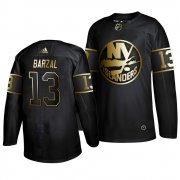 Wholesale Cheap Adidas Islanders #13 Mathew Barzal Men's 2019 Black Golden Edition Authentic Stitched NHL Jersey