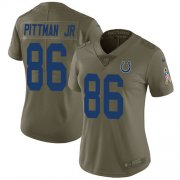 Wholesale Cheap Nike Colts #86 Michael Pittman Jr. Olive Women's Stitched NFL Limited 2017 Salute To Service Jersey