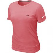 Wholesale Cheap Women's Nike Tampa Bay Buccaneers Chest Embroidered Logo T-Shirt Pink