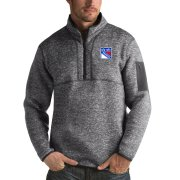 Wholesale Cheap New York Rangers Antigua Fortune Quarter-Zip Pullover Jacket Black