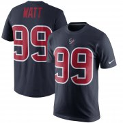 Wholesale Cheap Houston Texans #99 J.J. Watt Nike Color Rush Player Pride Name & Number T-Shirt Navy