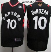 Wholesale Cheap Raptors #10 DeMar DeRozan Black 2019 Finals Bound Basketball Authentic Statement Edition Jersey