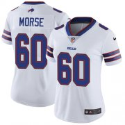 Wholesale Cheap Nike Bills #60 Mitch Morse White Women's Stitched NFL Vapor Untouchable Limited Jersey