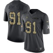 Wholesale Cheap Nike 49ers #91 Arik Armstead Black Youth Stitched NFL Limited 2016 Salute to Service Jersey