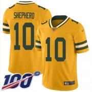 Wholesale Cheap Nike Packers #10 Darrius Shepherd Gold Men's Stitched NFL Limited Inverted Legend 100th Season Jersey