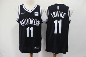 Wholesale Cheap Nets 11 Kyrie Irving Black Nike Swingman Jersey