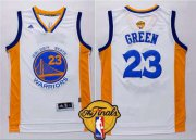Wholesale Cheap Men's Golden State Warriors #23 Draymond Green 2015 The Finals New White Jersey