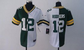 Wholesale Cheap Nike Packers #12 Aaron Rodgers Green/White Women\'s Stitched NFL Elite Split Jersey