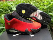 Wholesale Cheap Air Jordan 14 Ferrari Shoes Fusion Red/black-yellow