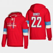 Wholesale Cheap Washington Capitals #22 Madison Bowey Red adidas Lace-Up Pullover Hoodie