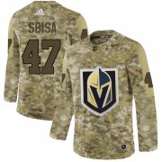 Wholesale Cheap Adidas Golden Knights #47 Luca Sbisa Camo Authentic Stitched NHL Jersey