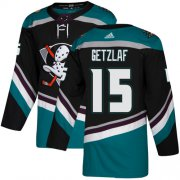 Wholesale Cheap Adidas Ducks #15 Ryan Getzlaf Black/Teal Alternate Authentic Stitched NHL Jersey