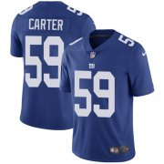 Wholesale Cheap Nike Giants #59 Lorenzo Carter Royal Blue Team Color Men's Stitched NFL Vapor Untouchable Limited Jersey