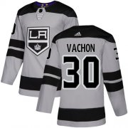 Wholesale Cheap Adidas Kings #30 Rogie Vachon Gray Alternate Authentic Stitched NHL Jersey
