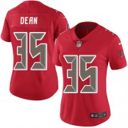 Wholesale Cheap Nike Buccaneers #35 Jamel Dean Red Women's Stitched NFL Limited Rush Jersey