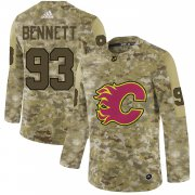 Wholesale Cheap Adidas Flames #93 Sam Bennett Camo Authentic Stitched NHL Jersey
