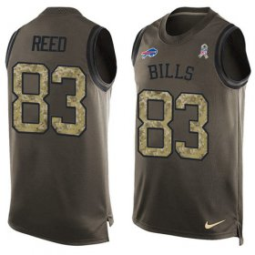 Wholesale Cheap Nike Bills #83 Andre Reed Green Men\'s Stitched NFL Limited Salute To Service Tank Top Jersey
