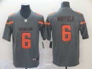 Wholesale Cheap Nike Browns #6 Baker Mayfield Gray Men's Stitched NFL Limited Inverted Legend Jersey