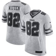 Wholesale Cheap Nike Cowboys #82 Jason Witten Gray Men's Stitched NFL Limited Gridiron Gray II Jersey
