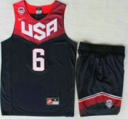 Wholesale Cheap 2014 USA Dream Team #6 Derrick Rose Blue Basketball Jersey Suits